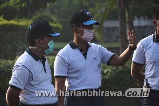 Pangkoarmada II Tegaskan Daerah Basis Angkatan Laut Wajib Masker