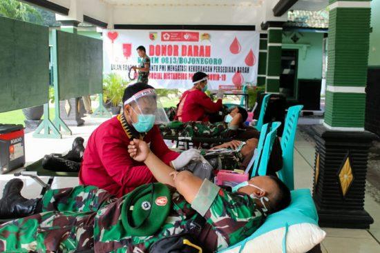 Kodim 0813 Bojonegoro Laksanakan Donor Darah di Makodim