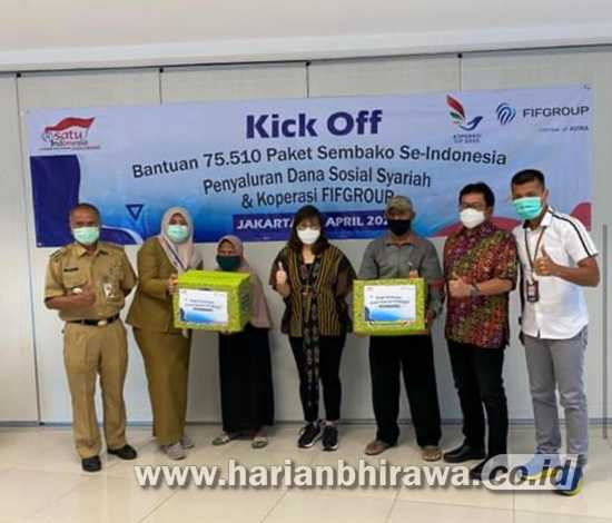 34 Kantor Cabang Fifgroup Di Jawa Timur Salurkan 5 400 Paket Sembako Harian Bhirawa Online