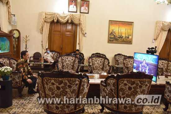 Wakil Bupati Sidoarjo Halal Bi Halal Secara Virtual