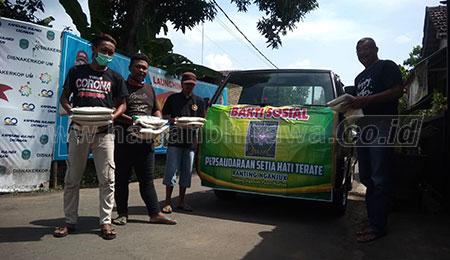 PSHT Nganjuk Bagikan 1000 Paket Sembako untuk Masyarakat