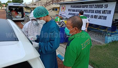 KONI Jatim Gelar Rapid Test di Lumajang