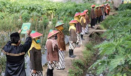 Wali Kota Lantik 16 Kasek di Areal Perkebunan dengan Pakaian Kejawen