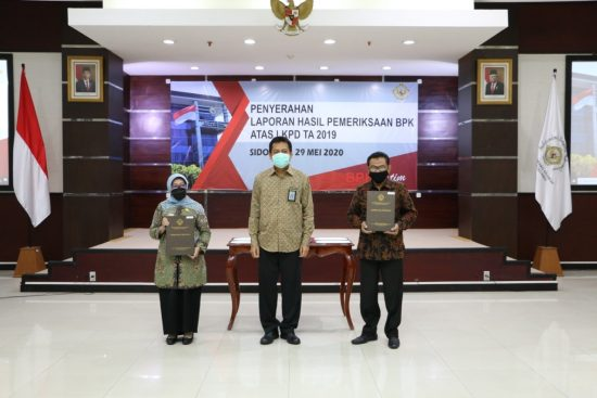 BPK Berikan Opini WTP atas LKPD Kabupaten Jombang Tahun 2019