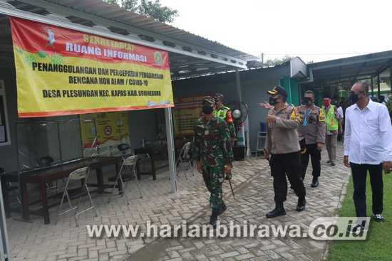Kapolres Bojonegoro Bersama Dandim Tinjau Kampung Tangguh Semeru