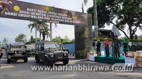 Divisi 2 Kostrad Singosari Salurkan Ribuan Paket Sembako
