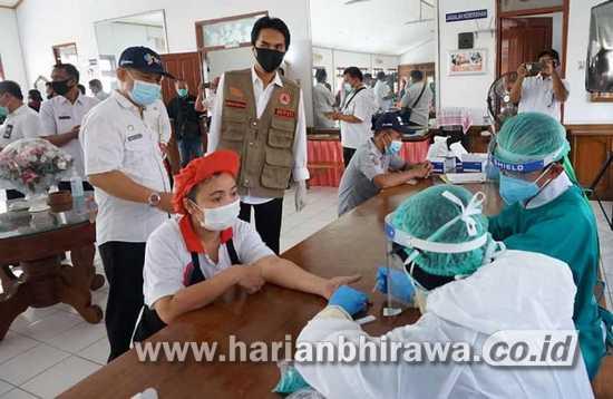 Pemerintah Kabupaten Madiun Adakan Rapid Test 100 Karyawan PT DMA