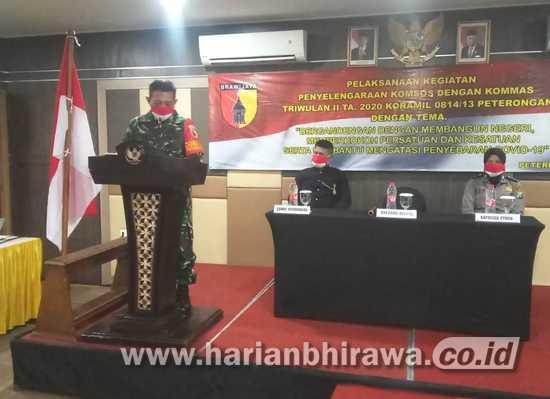 Koramil 0814/13 Peterongan Bangun Komunikasi Dialogis dengan Warga