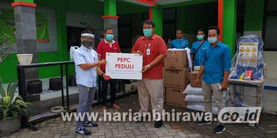 Masa Pandemi, Manajemen dan Pekerja PEPC Beri Donasi di Lima Kecamatan