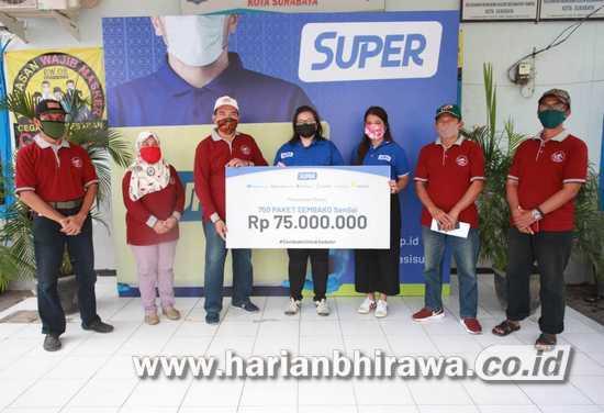 Aplikasi Super Bagikan Lebih Banyak Bantuan Warga Terdampak Covid-19 di Jawa Timur