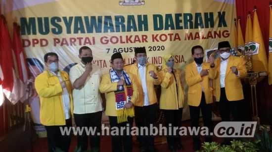 Sofyan Edi Jarwoko Terpilih Kembali Sebagai Ketua DPD Partai Golkar Kota Malang