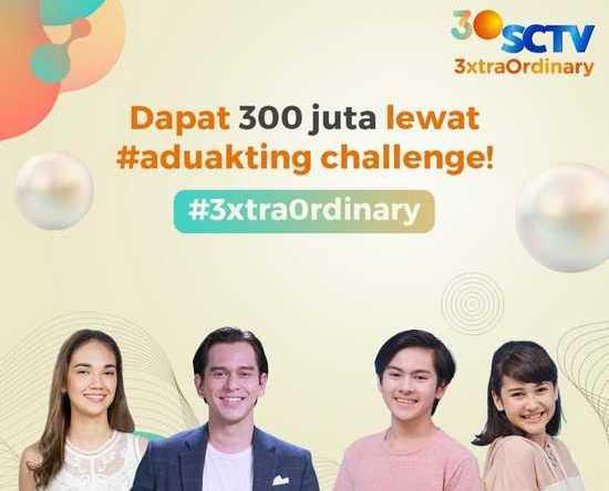 Jelang HUT Ke-30,  SCTV bagikan Hadiah Senilai Rp300 Juta