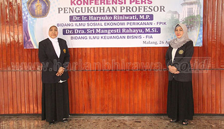 Prof Harsuko dan Prof Sri Mangesti Guru Besar Baru UB Malang