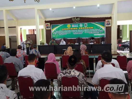 Launching Bersama Pembangunan Ekonomi Nasional Melalui KUR di Bondowoso