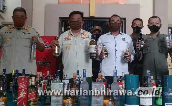 Razia Pekat, Satpol PP Kabupaten Sidoarjo Sita 2.612 Minuman Beralkhohol
