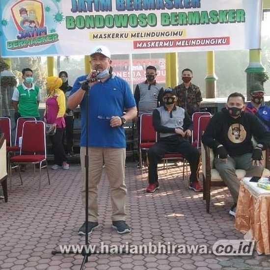 Pemkab Bondowoso Sosialisasikan Wajib Bermasker pada Masyarakat