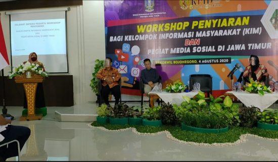 Diskominfo Jatim Gelar Workshop Penyiaran bagi KIM dan Pegiat Medsos