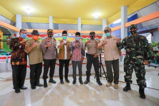 Forkopimda Pamekasan Launching Gerakan Jatim Bermasker