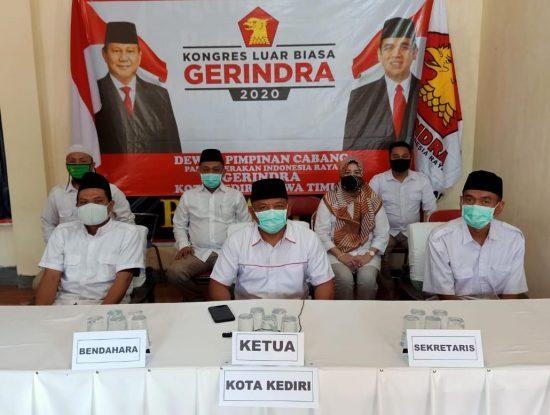 DPC Gerindra Kota Kediri Dukung Prabowo sebagai Ketum dan Presiden
