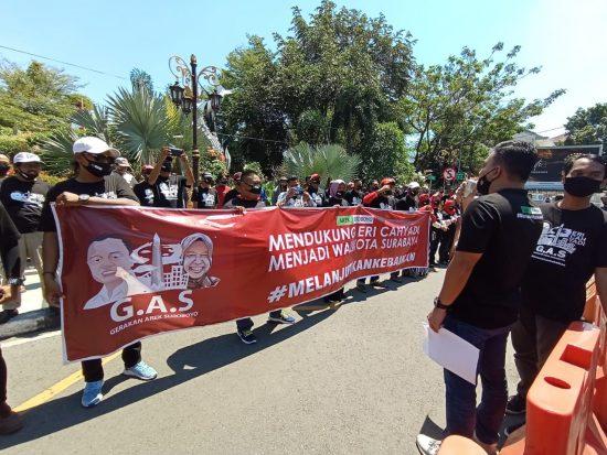 Anak-anak Muda Fans Risma Dukung Eri Cahyadi Jadi Wali Kota Surabaya