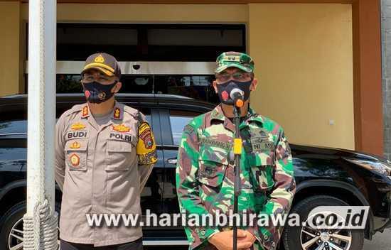 Dandim 0813-Polres Gelar Patroli Sampaikan Inpres Protokol Kesehatan