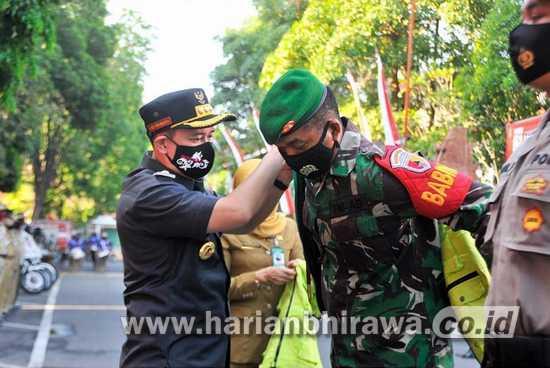 Pemerintah Kabupaten Nganjuk Kerahkan Ratusan Personel TNI dan Polri