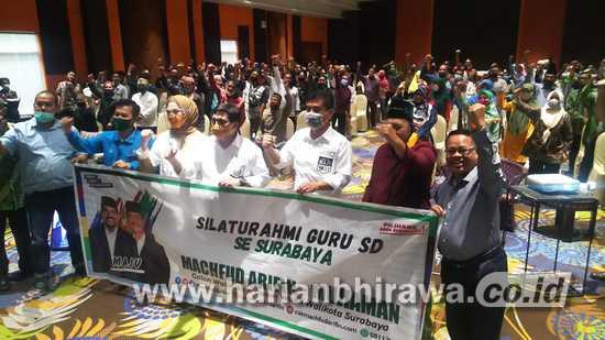 Guru SD se-Kota Surabaya Dukung Paslon MA-Mujiaman