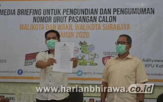 KPU Surabaya Tetapkan Dua Bapaslon yang Penuhi Verifikasi
