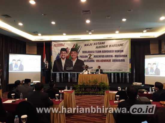 Paslon Machfud-Mujiaman dapat Dukungan 146 Pengacara
