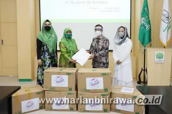 Pertiwi Indonesia Beri Bantuan 1.000 APD Kepada Muslimat NU