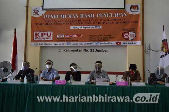 KPU Jember Tetapkan 3 Paslon dalam Pilkada Jember