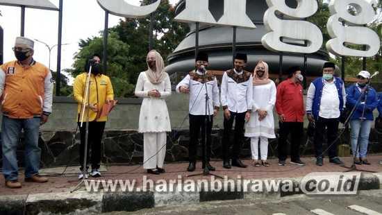 Bacalon Pasangan Bupati dan Wakil Bupati Trenggalek Arifin-Syah Daftar ke KPU