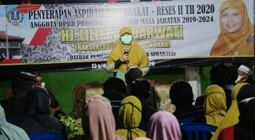 Lilik Hendarwati Disambati Warga Kampung Juara Surabaya Saat Reses, Apa Saja?