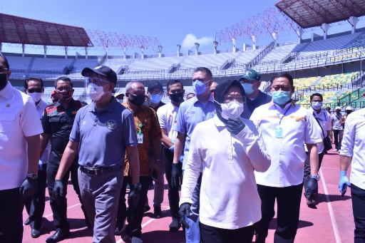 Menpora Tinjau Stadion GBT, Surabaya Disebut Paling Siap