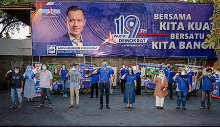 Dialog Dengan PKL, Ketum AHY Luncurkan Gerakan Nasional Demokrat Bina UMKM