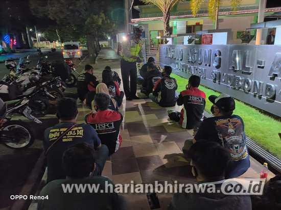 Satlantas-Komunitas Pecinta Motor Sosialisasikan Prokes dan Disiplin 3-M