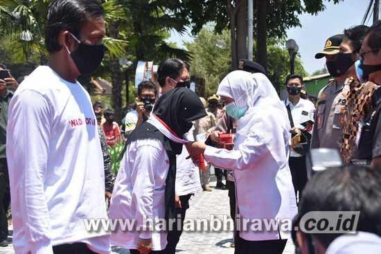 """Gubernur Bersama Bupati Launching """"Nadirotan"""" Tim Penegak Disiplin Prokes"""
