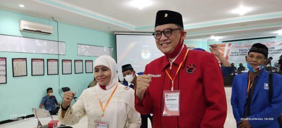 Kelana-Astutik Didukung Empat Parpol Non Parlemen Daftar Hari Pertama di KPU Sidoarjo