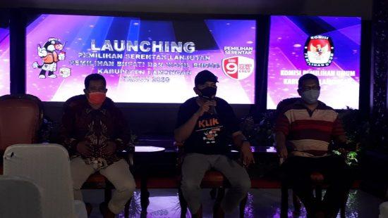Launching Pilkada Serentak,KPU Lamongan Miliki Tekad Wujudkan Pemilu Aman dan Damai