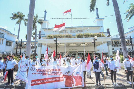 Taruna Merah Putih Solidkan Anak Muda Surabaya Dukung Eri Cahyadi