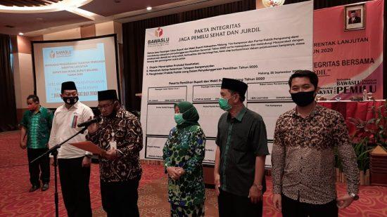 Jelang Tahapan Kampanye, Bawaslu Kabupaten Malang Gelar Deklarasi