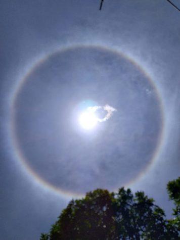 Fenomena Matahari Dilingkari Cahaya Pelangi, Pertanda Terjadi Prahara