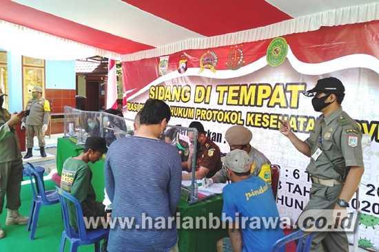 Masyarakat Kabupaten Malang Tak Pakai Masker Terjaring Operasi Yustisi