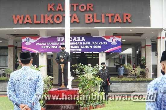 Pjs Wali Kota Blitar Jumadi Pimpin Upacara Hari Jadi Provinsi Jawa Timur Ke-75