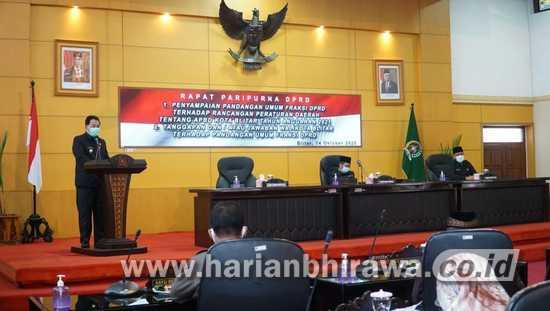Pjs Wali Kota Blitar Jumadi Jawab PU Fraksi Atas RAPBD Kota Blitar 2021