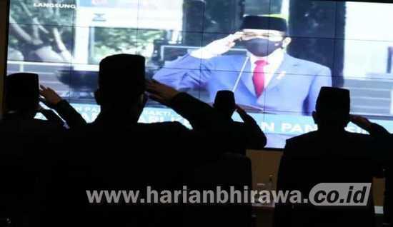 Wali Kota Madiun dan Forkopimda Peringati Kesaktian Pancasila Secara Vistual