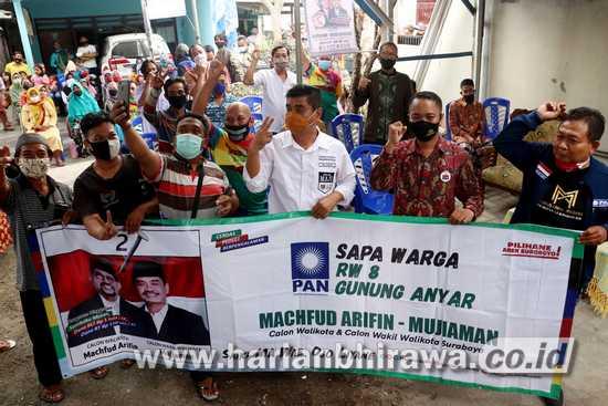 Yakin Surabaya Lebih Maju, Warga Rungkut Pilih MA-Mujiaman