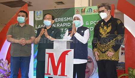 Gubernur Jatim Resmikan Layanan Rapid Test dan PCR di Maspion Square