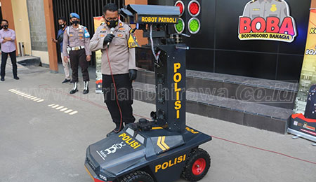 Polres Bojonegoro Luncurkan Robot Bojonegoro Tangguh