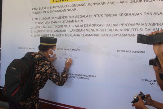 Sejumlah Elemen di Kabupaten Jombang Deklarasikan Anti Anarkisme